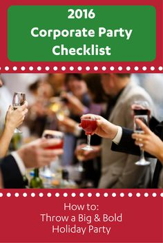 Corporate Party Checklist 2016: How to throw a big & bold holiday party! | Ideas from the PaperDirect blog