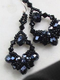 Crystal & Bead Earrings Σκουλαρίκια με κρύσταλλα και χάντρες Orecchini con cristalli e perline