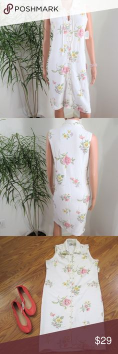 Spotted while shopping on Poshmark: New! Textured Cotton Floral Sheath Dress! #poshmark #fashion #shopping #style #Together #Dresses & Skirts