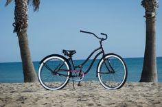 Old Skool Retro Dark Cherry Black Rim Single Speed Cruiser Ladies 26 Beach Bike 26 Beach, Electric Beach, Cruiser Bicycle, Bicycle Women, Bike Store, Black Rims, Rural Area, Woman Beach, Huntington Beach