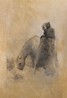 The Visitor by Lee Teter | Graphite and Chalk | kp