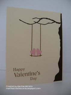 Swing with me, My Valentine! by marthacreates - Cards and Paper Crafts at Splitcoaststampers