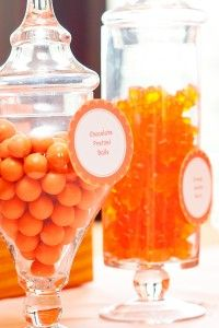 #Orange #Candy display. @Samantha @This Home Sweet Home Blog Kohnen-Provenzano, photographer 6th Birthday Parties, Girl Birthday, Jelly Belly Beans, Candy Display, Orange Candy, Great Expectations, Orange Recipes, Orange Slices, Gummy Bears