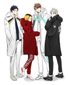 Akaashi, Kenma, Oikawa, Sugawara
