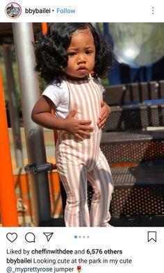Look like an umpa lumpa 😍 Cute Mixed Babies, Cute Black Babies, Beautiful Black Babies, Cute Little Girls, Cute Baby Girl, Beautiful Children, Cute Babies, Cute Kids Fashion, Cute Outfits For Kids