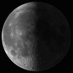 La Luna ha alcanzado la fase Cuarto Menguante