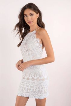 Give Me Your Love White Lace Bodycon Dress