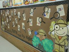Reading Detectives All star reading detectives bulletin board Detective theme bulletin board Classroom themes: detectives Be a detective - interactive bulletin board ideas Detective mystery themed classroom Detective theme Library Displays, Classroom Displays, Classroom Themes, Book Displays, Detective Theme, Mission Possible, Library Bulletin Boards, Dinosaur Bulletin Boards, Real Teacher