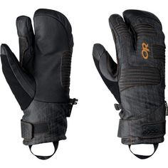Outdoor Research Men's Point 'N Chute 3-Finger Gloves (Black/Ember, X-Large) by Outdoor Research. $118.95. Freeride and Sidecountry skiers and riders looking for extra warmth and weather protection in a stylie undercuff design turn to the Point n' Chute™.