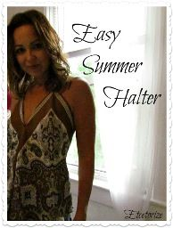 Tutorial: Easy summer halter from a vintage scarf