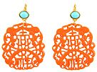 Kenneth Jay Lane Light Coral/Turquoise Earrings | Neiman Marcus