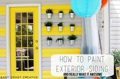 how to paint exterior siding
