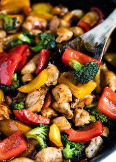 Chicken Stir Fry This Chicken and Vegetable Stir Fry is an easy meal that's perfect for busy weeknights! It's loaded with fresh veggies and coated in a delicious stir fry sauce. Serve over rice or noodles for the ultimate take-out style dish! Chicken Vegetable Stir Fry, Easy Chicken Stir Fry, Veggie Stir Fry, Vegetable Recipes, Chicken Recipes, Chicken Thigh Stir Fry, Chinese Vegetable Stir Fry, Orange Chicken Stir Fry, Pork