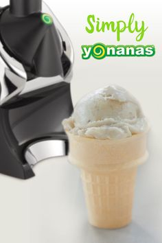 There's a banana on my cone! Yup! 100% Fruit Soft Serve Yonanas.  That's Bananas!