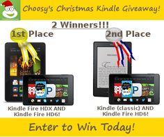 Choosy's Christmas Kindle Giveaway
