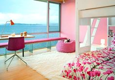 pink interior decorating bedroom house