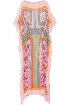 Multicolored silk-chiffon Slips on 100% silk Hand wash Designer color: Zen Scarf Multi Imported
