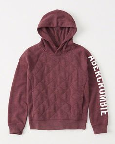 quilted raglan logo pullover | abercrombie
