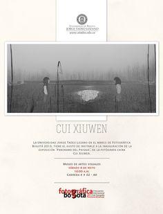 """No olvide la inauguración de """"Panorama del paisaje"""", una obra de Cui Xiuwen en el #Mav de #LaTadeo el 4 de mayo June 6th, Mayo, Movie Posters, Art Museum, Visual Arts, Exhibitions, Museums, Scenery, Film Poster"""