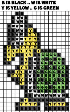 mario koopa color template perler beads 285x175 step How to Make a Koopa Troopa from Super Mario Bros with Perler Beads