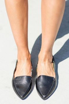 'fashionably late' pointed toe flats