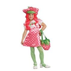 Kids Deluxe Strawberry Shortcake Costume.  $36.99            Delightfully sweet. Costume includes dress, hat and stockings. Does not include Bag and wig.