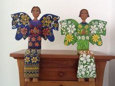 angel de madera figura madera tallada,pintura madera tallada a mano,pintados a mano
