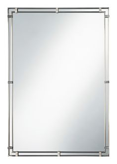"""33"""" Murray Feiss Parker Place Brushed Steel Wall Mirror 