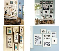 Great blog tutorial on wall galleries with multiple examples.