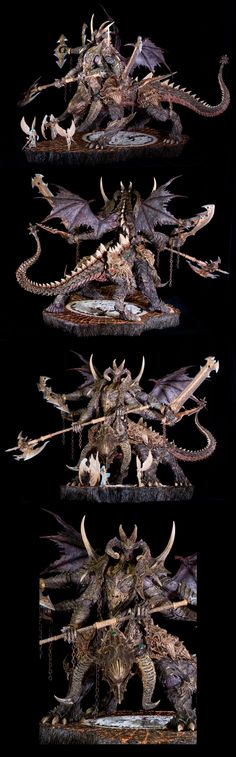 Chaos Behemoth (collage) {Christ chaos would be fun for conversions.. to many armies started though}
