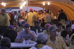 Dinner time in fire camp!