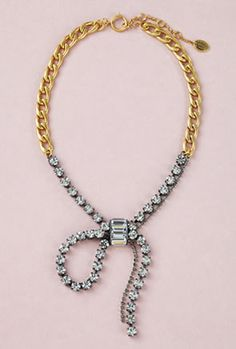 JUICY COUTURE Rhinestone Bow Necklace