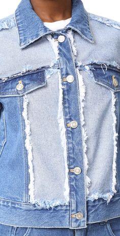 SJYP Side Cut Denim Jacket | SHOPBOP