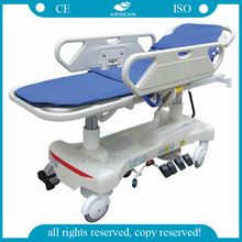 AG-HS010 ABS bedboard ambulance transport hospital patient wheeled stretcher