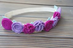 Purple and Magenta Felt Flower Crown toddler by CharminglyJax