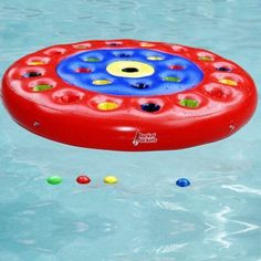"""""""Rocket Pockets"""" is one of the best pool toys we've found. Competitive for many age groups. We've made our own additional rules!"""
