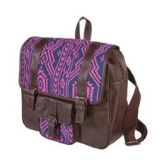 Mossimo Supply Co. Medium Geo Panel Square Backpack - Brown/Pink Quick Information