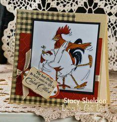 Bird-Brains Birdie & Scratch (Sku Handmade anniversary card with chicken and rooster. Chicken Crafts, Art Impressions Stamps, Sketch Paper, Chicken Humor, Chickens And Roosters, Scrapbook Supplies, Scrapbooking, Penny Black, Digi Stamps