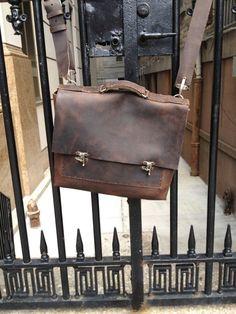Toure satchel - mens leather satchel bag - messenger bag men - Authentic hand crafted American satchel