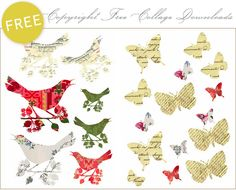 Free Copyright Free Collage Images - Home - Creature Comforts - daily inspiration, style, diy projects + freebies