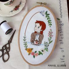 Hand Embroidery Art, Hand Embroidery Tutorial, Ribbon Embroidery, Embroidery Designs, Anne Of Green Gables, String Art, Cross Stitch Patterns, Sewing, Human Faces