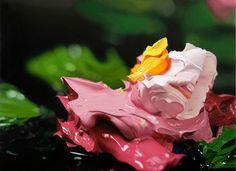 Ben Weiner combina abstração e foto-realismo em suas telas. http://www.benweiner.com/works.html