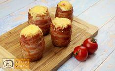 TÖLTÖTT KRUMPLI RECEPT VIDEÓVAL - töltött krumpli készítése Baked Potato, Bacon, Potatoes, Meals, Ethnic Recipes, Food, Meal, Potato, Baked Potatoes