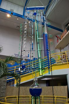 Giant water clock in Indy.