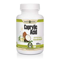 BioActive Nutrients Caprylic Acid 180 Softgels Review Candida Overgrowth, 2000 Calorie Diet, 2000 Calories, Essential Fatty Acids, Saturated Fat, Serving Size, Coconut Oil, Health, Doctors