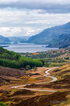 The road leading to Loch Maree in the Highlands༺✿ Scotland. Outlander, Scottish Highlands, Highlands Scotland, Scotland Castles, Landscape Photography, Travel Photography, England And Scotland, Skye Scotland, Scotland Travel