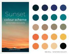 Picture Color Schemes, Website Color Schemes, Yellow Color Schemes, Color Combos, Sunset Colors, Teal Colors, Vibrant Colors, Orange Color Palettes, Colour Pallette