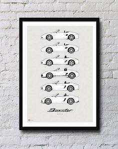 Porsche Boxster Generations Poster by HivePosters on Etsy