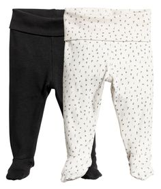 Sieh's dir an! CONSCIOUS. Leggings aus weichem Bio-Baumwolljersey. Modell mit breitem Umschlagbund und Füßchen. – Unter hm.com gibt's noch viel mehr.