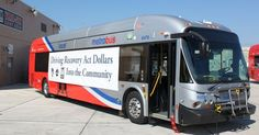 Washington DC Metrobus. Made by New Flyer, a hybrid Diesel-electric bus, manufactured in Minnesota,